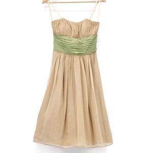 BCBG Paris Polka Dot Silk Dress Size 2 EUC